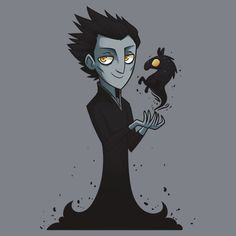 SUPER CUTE!! ~ Rise of the Guardians (2012) - Products - Pitch Black - TShirt Design [Link no longer available, but I LOVE the picture!]