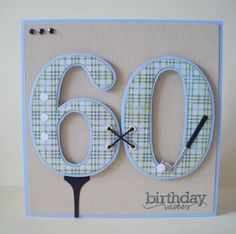 Really nice golf/birthday card. Love the tying of the numbers together feature!