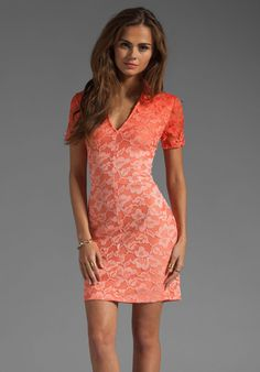 DOLCE VITA Alexis Stretch Lace Dress in Pink Ombre at Revolve Clothing