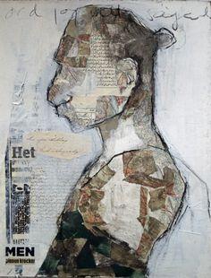 carola kastman,collage,man