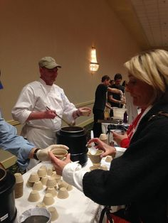 Durham Convention Center Executive Chef James won 1st place in Judges category and 2nd place in People's choice at The Urban Ministries Empty Bowls Charity Event!  Delicious Seafood Gumbo!