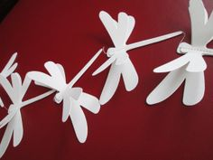 Dragonfly Paper Garland by futtatinni on Etsy, $10.00