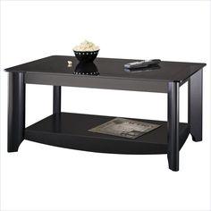 Bush Myspace Aero Coffee Table in Black Finish - MY16904-03 - Lowest price online on all Bush Myspace Aero Coffee Table in Black Finish - MY16904-03