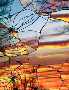Broken Glass & sunset
