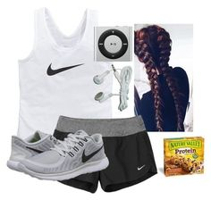 """Mile Run Tomorrow!!!"" by katie-1111 ❤ liked on Polyvore featuring NIKE"
