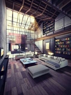 71 | Industrial Loft | Small Space | Studio Apartment | Interior Design #modernfurniture #luxuryapartment