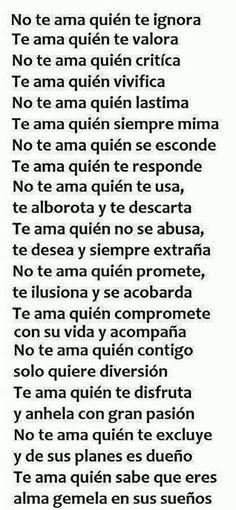 Y yo te amo...
