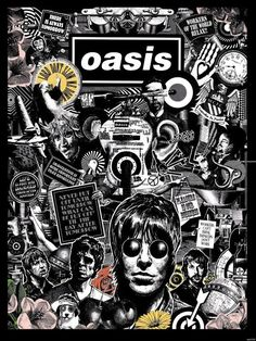 Oasis Black and White Art Print/Poster Music Band Oasis Band, Rock Band Posters, Rock Poster, Lookscreen Iphone, Oasis Album, Band Wallpapers, Pop Rock, Rockn Roll, Poster Prints