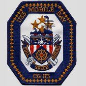 USS Mobile Bay CG 53 Ship Crest