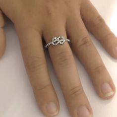 Natural Round Cut Diamond Wedding Infinity Knot Band by ldiamonds, $510.00