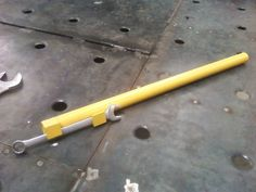 Wrench Extension by billybob_81067 -- Homemade wrench extension constructed from pipe and angle iron. http://www.homemadetools.net/homemade-wrench-extension