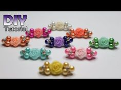 DIY || Tutorial Bros Dagu Mutiara | Simple | Tiny pin without glue | Membuat souvenir sendiri | Bros - YouTube Diy Crafts Jewelry, Bead Crafts, Diy And Crafts, Flower Girl Headbands, Diy Headband, Bead Loom Bracelets, Making Hair Bows, Easy Christmas Crafts, Bridal Hair Pins