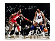 #SportsMemorabilia.com - #SportsMemorabilia.com Michael Jordan Magic Johnson Autographed 16X20 Photo All Star Match-Up /25 UDA - AdoreWe.com