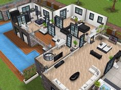 House 77 level 2 #sims #simsfreeplay #simshousedesign