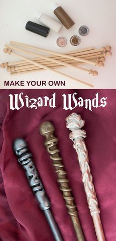 DIY your own wands that even Ollivander would be impressed by. Perfect for a Har… DIY your own wands that even Ollivander would be impressed by. Perfect for a Harry Potter party for a party game or as a take-home favor. Each kit makes 8 wands. Baby Harry Potter, Harry Potter Enfants, Harry Potter Motto Party, Harry Potter Fiesta, Harry Potter Party Games, Harry Potter Thema, Harry Potter Classroom, Theme Harry Potter, Harry Potter Bedroom