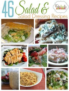 These salads and salad dressing recipes are delicious!