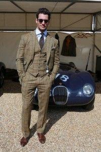 Fashion model David Gandy with Jaguar C-Type - march 29, 2014