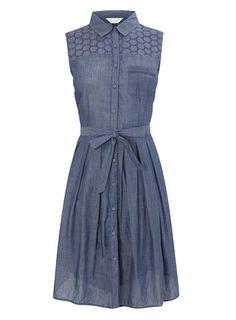 Blue Chambray Shirt Dress