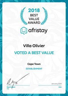 Villa Olivier - Afristay award - Nox Rentals