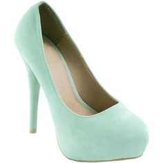 Mint Soft Suede Court Shoes ($33) ❤ liked on Polyvore featuring shoes, pumps, heels, sapatos, zapatos, wedge flats, mint flats, wedge heel shoes, suede wedge pumps and evening shoes
