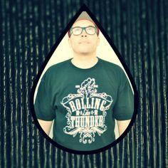 DJ Tramlife reppin' Rolling Like Thunder Suprema shirt in Black!   rollinglikethunder.com  @djtramlife #djtramlife #nosuckerdjs #rollinglikethunderbrand