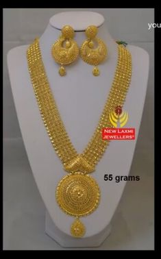 Gold Mangalsutra Designs, Gold Earrings Designs, Gold Jewellery Design, Gold Jewelry, Gold Necklaces, Necklace Designs, Bridal Jewelry Sets, Wedding Jewelry, Lahenga