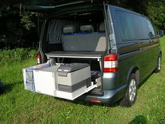 vw caravelle sleep pack with rear kitchen pod