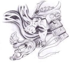 Cursed samurai tattoo design