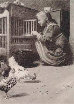 Girls in henhouse - Koloman Moser