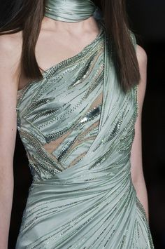 Details at Atelier Versace Couture S/S 2014