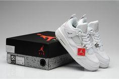 Women's Air Jordan IV-All White Shoes