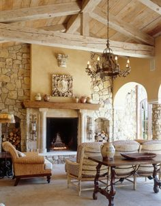 beautiful brick and wood accents make the room rustic Brick Interior, Interior Design, Cabin Design, House Design, Brick And Wood, Brick Wall, Timber Frame Homes, Cottage, Log Cabin Homes
