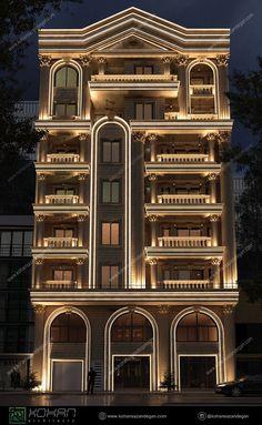 2 Storey House Design, House Front Design, Door Design, Exterior Design, Architect Design House, Arabian Decor, Coastal House Plans, Architecture Building Design, Building Elevation