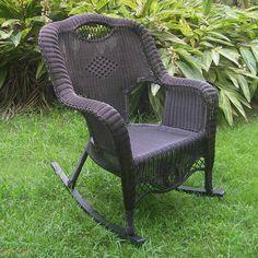 International Caravan Maui Resin Wicker Outdoor Rocking Chair - 3195-1CH-AB