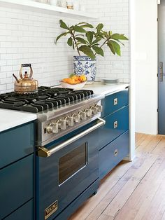 Looking to add color to your kitchen? Walls, floors, furniture, and decor are the obvious go-to's, but what about the appliances? Spotted in Southern Living, Viking now has a range of colors to choose from.