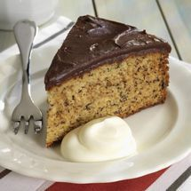 Banana Cake Recipe with Chocolate Icing
