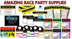 Amazing Race party supplies and invitations!  Awesome site and ideas! Ordered for J's party!!!!