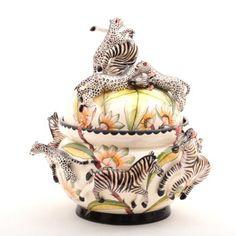 Ardmore Ceramic Art : Zebra tureen