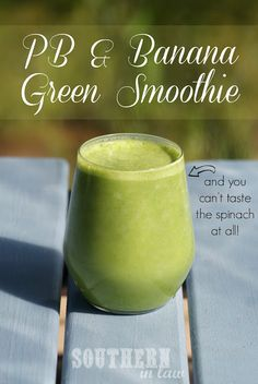 Dont get the green smoothie hype? This Peanut Butter Banana Green Smoothie will TOTALLY change your mind. Low fat, gluten free, sugar free, vegan and so so delicious!