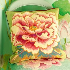 Floating Peony - Ehrman Tapestry  Needlepoint by Kaffe Fassett, beautiful floral design