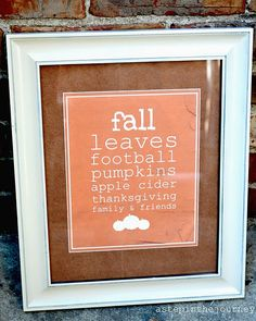 fall quote printable from A Step in the Journey