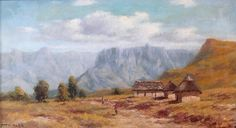 Otto Klar - Mountainous Landscape - Oil on board, Size : 310 x 560mm