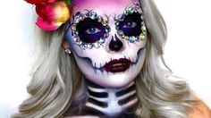 day of the dead makeup tutorial - YouTube