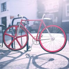 #fixie #red #fixed gear