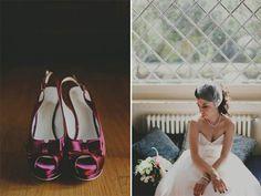 Scarpe colorate per un matrimonio anni '50: Francesca e Andrea