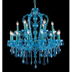 colored crystal chandeliers colored crystals give these monochromatic ...
