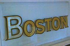 Boston style glass gilding