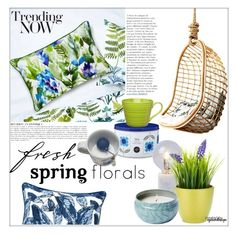 """Fresh Spring Florals"" by eyesondesign on Polyvore featuring interior, interiors, interior design, home, home decor, interior decorating, Sagaform, interiordesign, springflorals and TastemastersDesig"