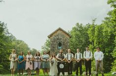 Awesome rustic wedding party as seen on @Offbeat Bride