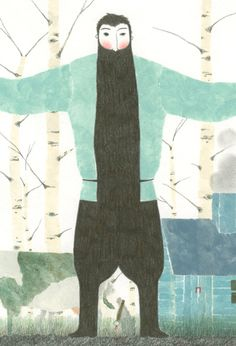 Elena Odriozola: Cuanta-tierra-necesita-un-hombre Forest Illustration, Children's Book Illustration, Book Illustrations, Elena Odriozola, More Than A Feeling, Man Images, Some Image, Conte, Various Artists